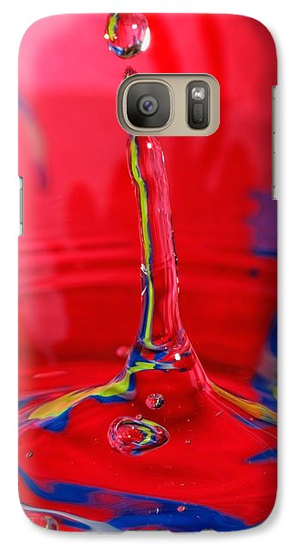 Galaxy Case featuring the photograph Colorful Water Drop by Peter Lakomy