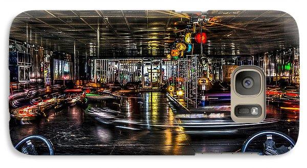 Galaxy Case featuring the photograph Coney Island Bumper Cars by Rafael Quirindongo