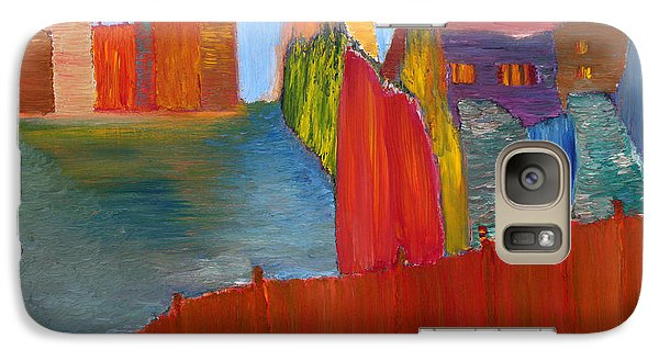 Galaxy Case featuring the painting Contrasts by Vadim Levin