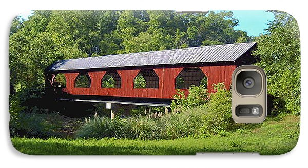 Galaxy Case featuring the painting Covered Bridge by Debra Crank