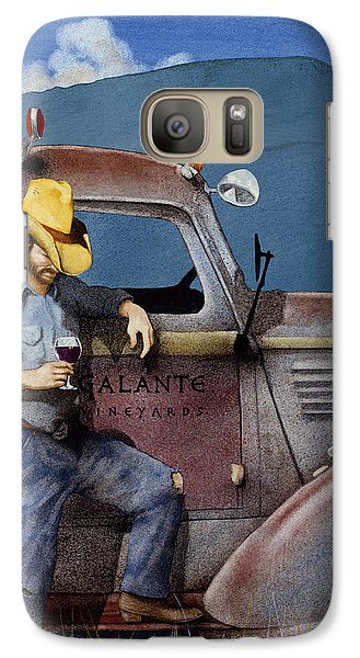 Galaxy Case featuring the painting Cowboys And Cabernet... by Will Bullas