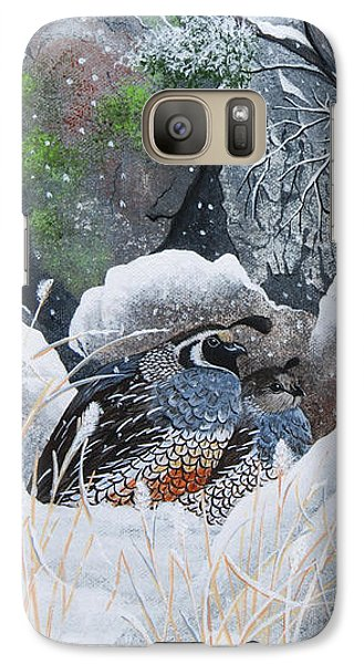 Galaxy Case featuring the painting Cozy Couple by Jennifer Lake