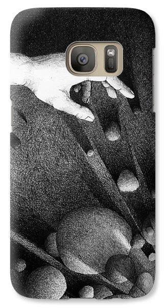 Galaxy Case featuring the drawing Creator  by Mariusz Zawadzki