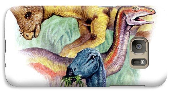Ostrich Galaxy S7 Case - Cretaceous Herbivorous Dinosaurs by Deagostini/uig