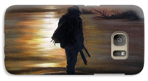 Galaxy Case featuring the painting Crossing The River by Vesna Martinjak