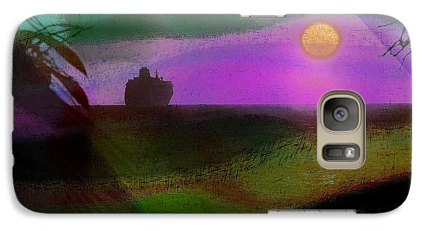 Galaxy Case featuring the photograph Cruise Into The Sunset by Athala Carole Bruckner