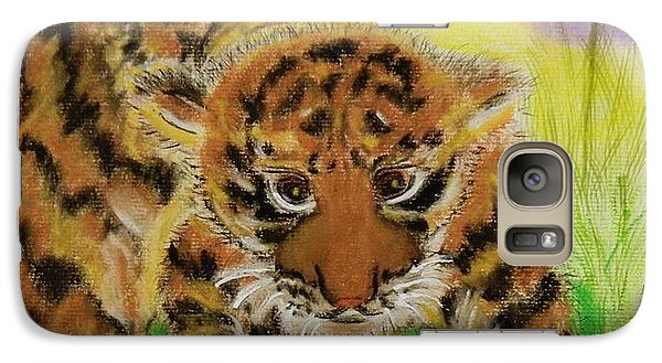 Galaxy Case featuring the pastel Curiosity by Celeste Manning