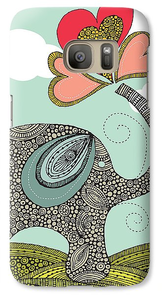 Cute Elephant Galaxy S7 Case by Valentina Ramos