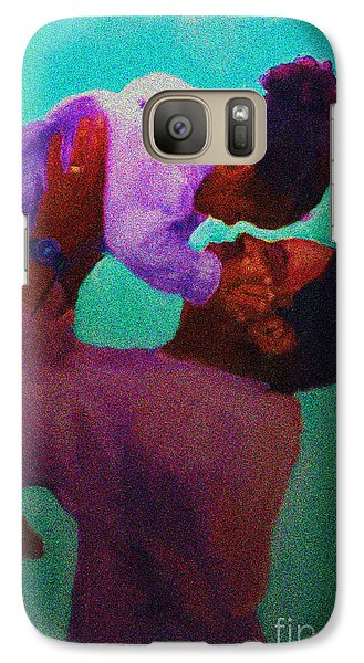 Galaxy Case featuring the painting Daddys' Little Girl by Vannetta Ferguson