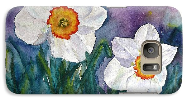 Galaxy Case featuring the painting Daffodil Dream by Anna Ruzsan