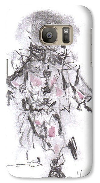 Galaxy Case featuring the mixed media Dancing Clown by Laurie L