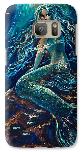 Galaxy Case featuring the painting Darkness Darkness by Linda Olsen
