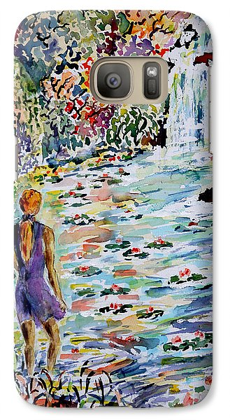 Galaxy Case featuring the painting Daughter Of The River by Alfred Motzer