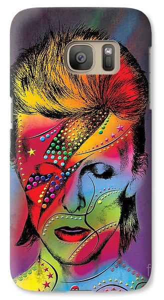 Elvis Presley Galaxy S7 Case - David Bowie by Mark Ashkenazi