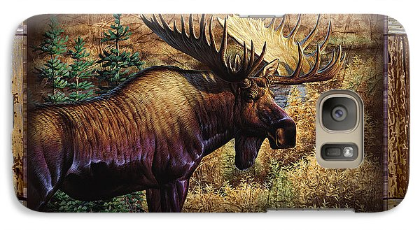 Galaxy Case featuring the painting Deco Moose by Cynthie Fisher