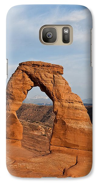 Galaxy Case featuring the photograph Delicate Arch At Sunset by Jeff Goulden
