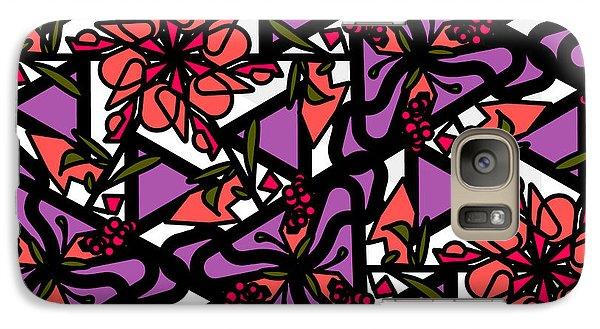 Galaxy Case featuring the digital art Digi-flora by Elizabeth McTaggart