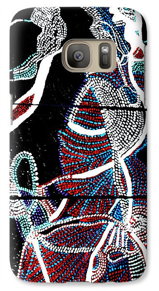 Galaxy Case featuring the painting Dinka by Gloria Ssali
