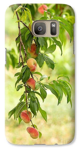 Donut Peaches Galaxy S7 Case by Iris Richardson