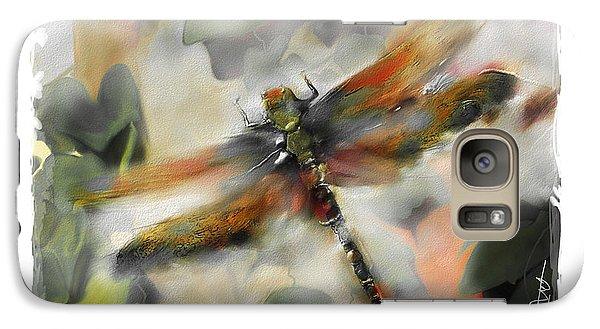 Impressionism Galaxy S7 Case - Dragonfly Garden by Bob Salo