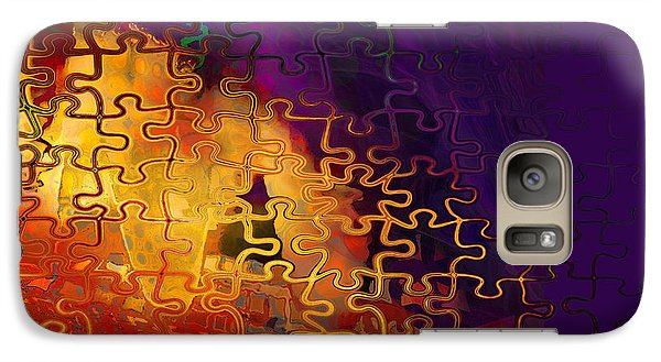 Galaxy Case featuring the digital art Dragon's Teeth Puzzle by Constance Krejci