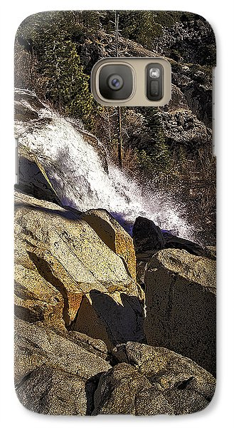 Galaxy Case featuring the photograph Eagle Falls by Nancy Marie Ricketts