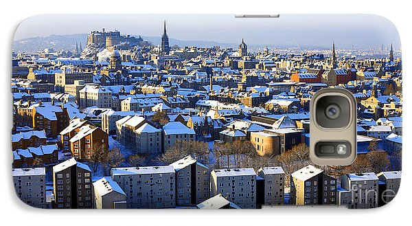 Galaxy Case featuring the photograph Edinburgh Winter Cityscape by Craig B