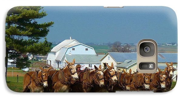Galaxy Case featuring the photograph Eight Horse Hitch by Jeanette Oberholtzer