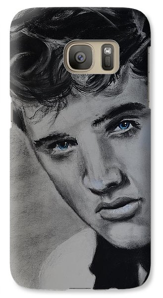 Galaxy Case featuring the drawing Elvis Presley - America by Eric Dee