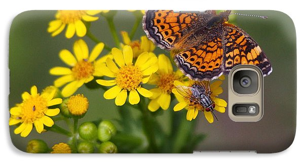 Galaxy Case featuring the photograph Enjoying The Flowers by Myrna Bradshaw