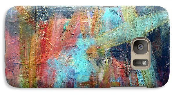 Galaxy Case featuring the painting Ethereal by Stacey Zimmerman