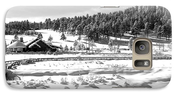 Galaxy Case featuring the photograph Evergreen Lake House Winter by Ron White