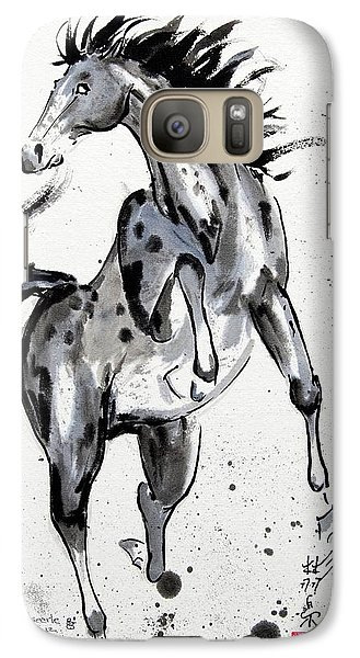 Galaxy Case featuring the painting Exuberance by Bill Searle