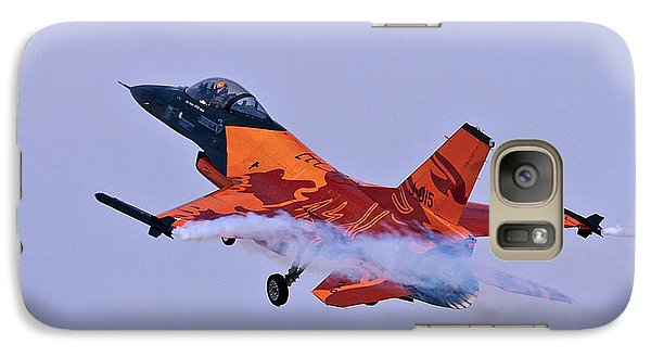 Galaxy Case featuring the photograph F-16am Fighting Falcon by Paul Scoullar