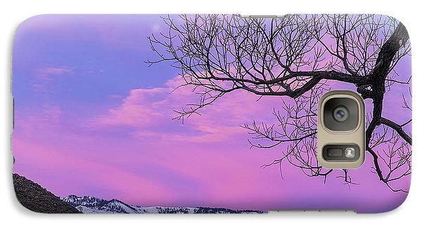 Galaxy Case featuring the photograph Fading Winter Moon by Nancy Marie Ricketts