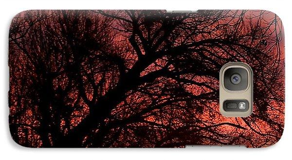Galaxy Case featuring the photograph Fall Fire by Roseann Errigo