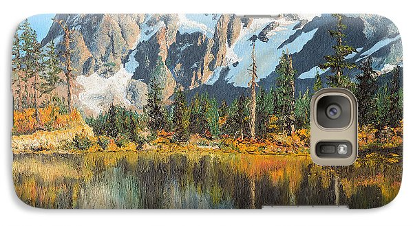 Galaxy Case featuring the painting Fall Reflections - Cascade Mountains by Mary Ellen Anderson
