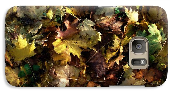 Galaxy Case featuring the digital art Fallen Leaves by Ron Harpham