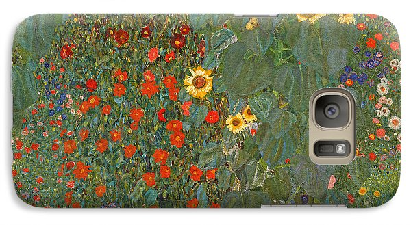 Sunflower Galaxy S7 Case - Farm Garden With Sunflowers by Gustav Klimt