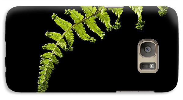 Galaxy Case featuring the photograph Fern With Raindrop by Trevor Chriss