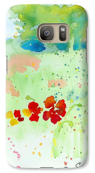 Galaxy Case featuring the painting Field Of Flowers by C Sitton