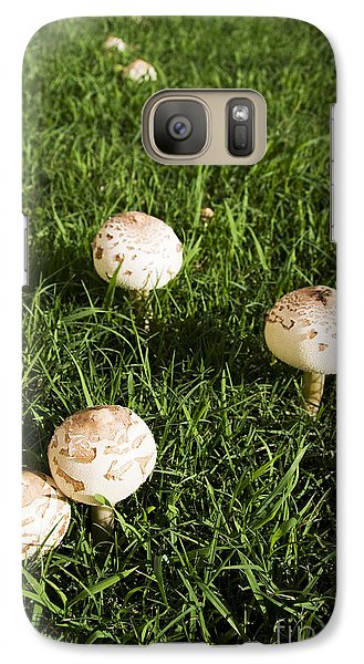 Field Of Mushrooms Galaxy Case by Jorgo Photography - Wall Art Gallery