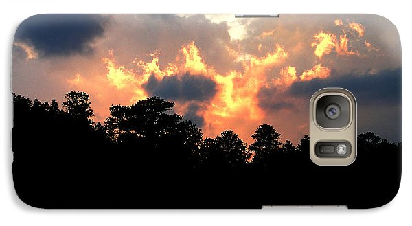Galaxy Case featuring the photograph Fire In The Sky by Craig T Burgwardt