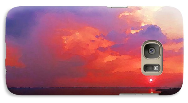 Galaxy Case featuring the photograph Fire In The Sky by Holly Martinson