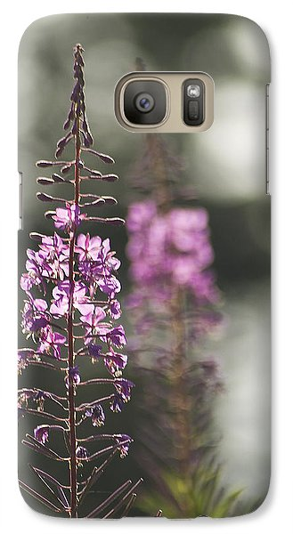 Galaxy Case featuring the photograph Fireweed by Yulia Kazansky
