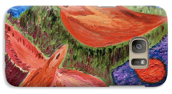 Galaxy Case featuring the painting First Flight by Vadim Levin