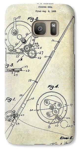 Fishing Reel Patent 1939 Galaxy S7 Case
