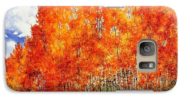 Galaxy Case featuring the painting Flaming Aspens 2 by Barbara Jewell