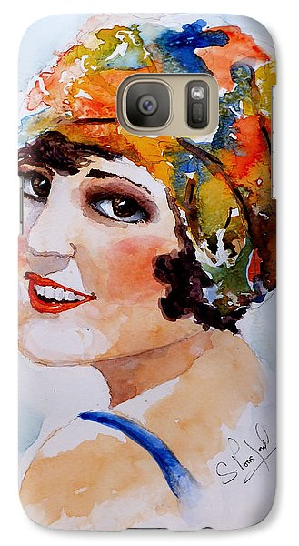 Galaxy Case featuring the painting Flappers Girl by Steven Ponsford