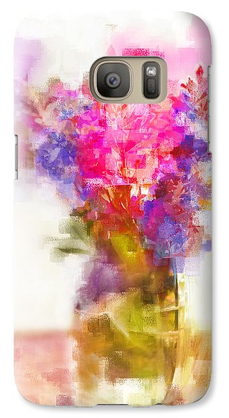 Galaxy Case featuring the painting Floral Still Life by Linde Townsend